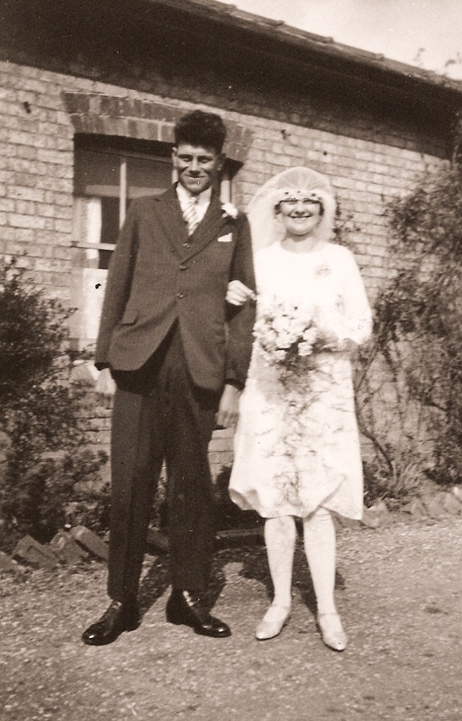 Newlyweds Ernest and Maude Barber