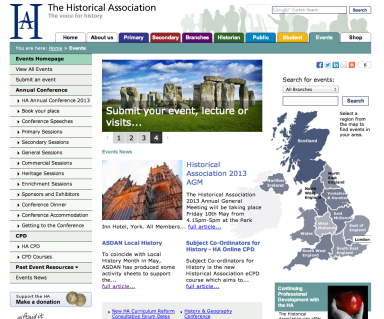 The Historical Association website