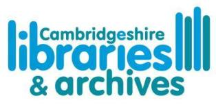 Cambridgeshire Libraries and Archives logo