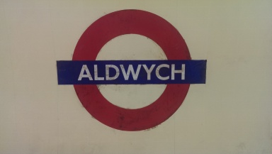 Aldwych underground sign