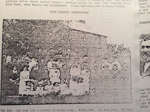 1909 Newman Gilbert wedding group
