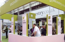 Ancestry, the show's sponsor, at Who Do You Think You Are? Live 2014