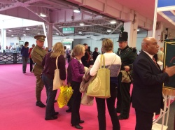 Men in historical costume at WDYTYA? Live 2014