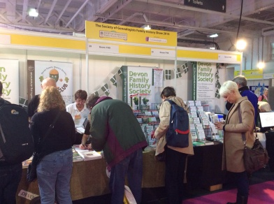 Devon Family History Society stand at WDYTYA? Live 2014