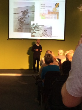 Sir Tony Robinson talks at Ancestry Academy on day one of Who Do You Think You Are? Live 2014