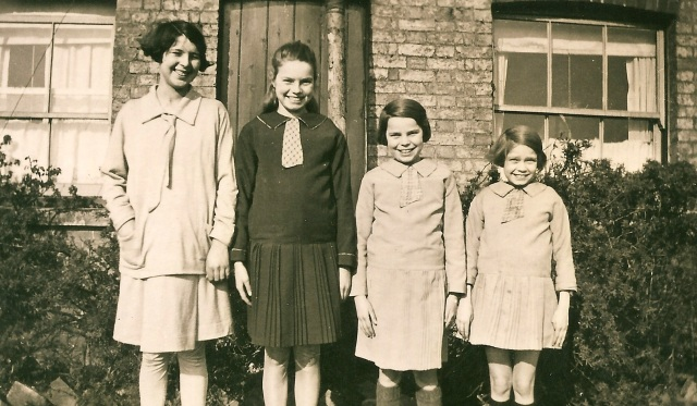 Aggie, Cath, Lois and Win Yarrow in the 1920s.