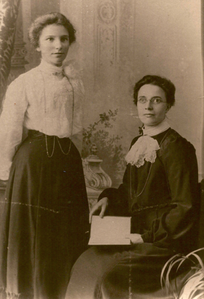 Emma Jane Martin with sister Rose Ellen Martin
