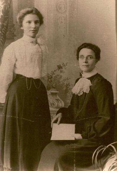 Emma Jane Martin with sister Rose Ellen Martin