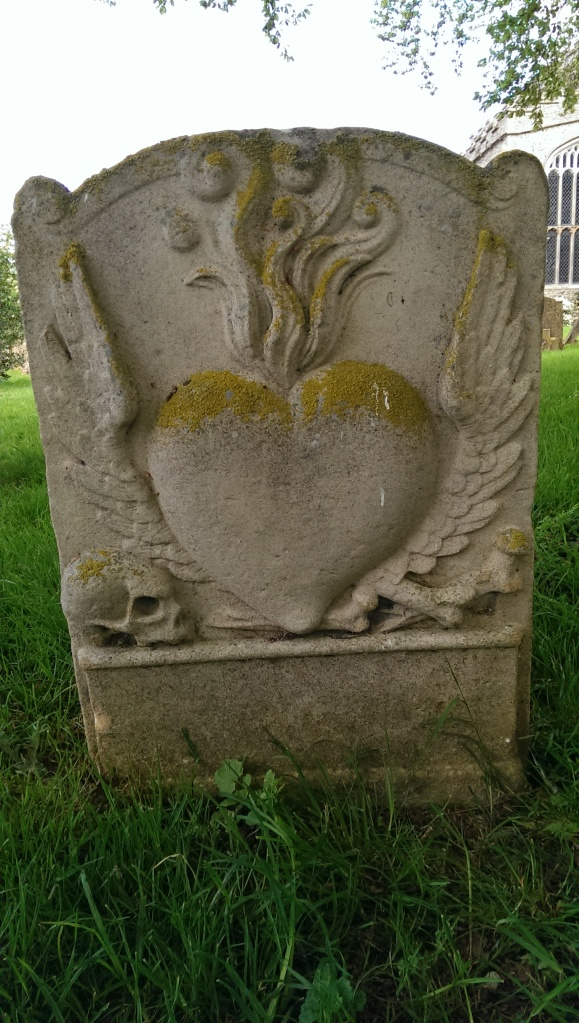 The front of the gravestone to the victims of the fire, in Burwell, Cambridgeshire.