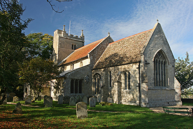 St Laurence's church, Wicken. Photo: Steve Day via Creative Commons.