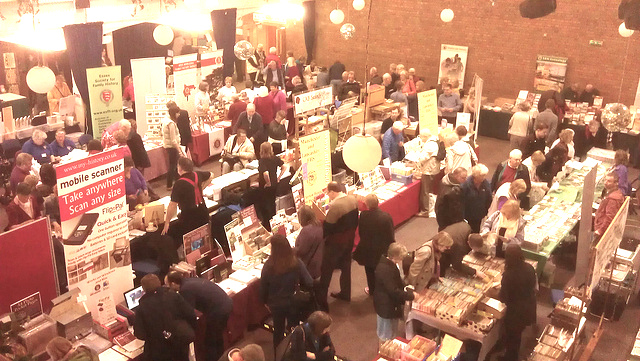 One of the halls at The Big Family History Fair 2012, St Ives.