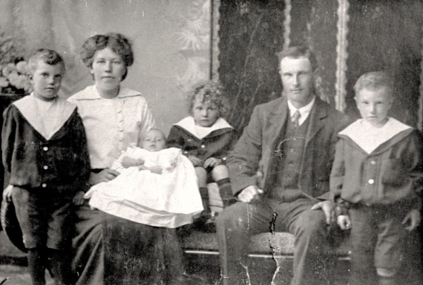 The Martin family in about 1916.