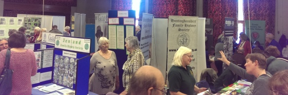 Exhibitors at The Cambridgeshire Family History Fair 2014.