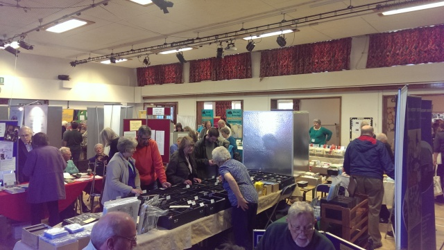 The Main Hall at the Cambridgeshire Family History Fair 2014.