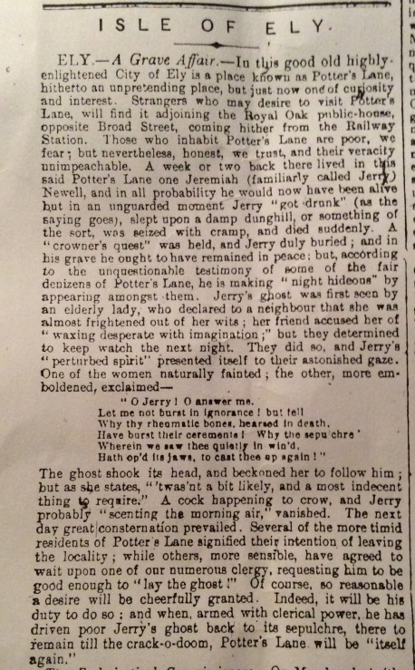 Cambridge Chronicle 17th November 1866