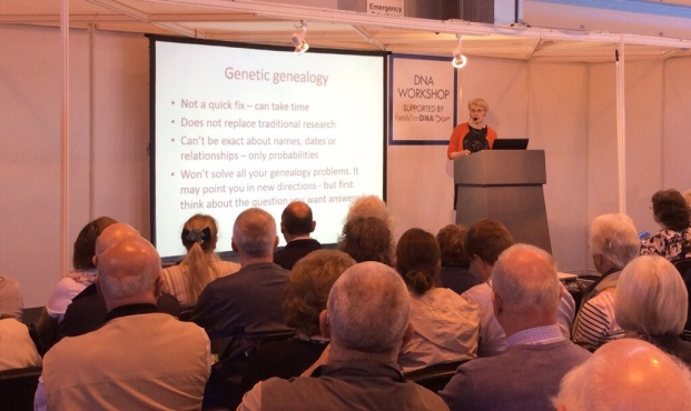 Linda Kerr of ISOGG talking DNA for Absolute Beginners