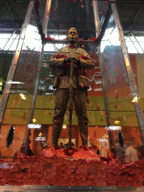 Remembrance statue at Who Do You Think You Are? Live 2015