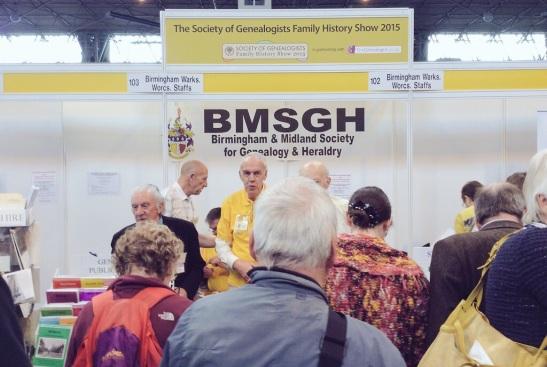 Birmingham & Midland Society for Genealogy & Heraldry stand