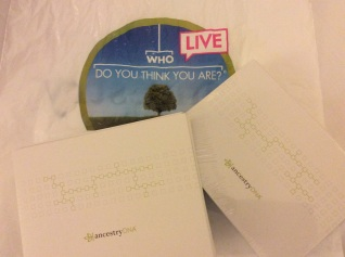 Two AncestryDNA testing kits