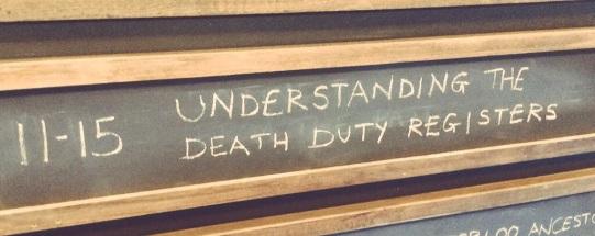 Understanding the Death Duty Registers sign