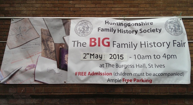 The Big Family History Fair 2015 banner