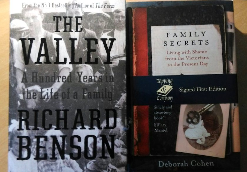 'The Valley' by Richard Benson, and 'Family Secrets' by Deborah Cohen.