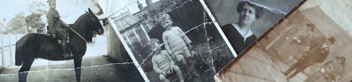 damaged and creased photographs