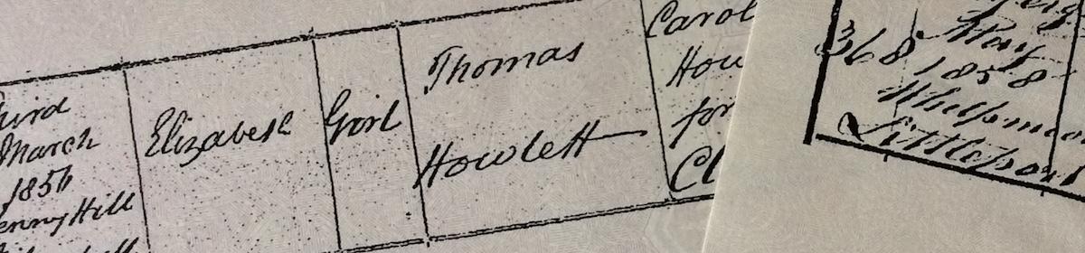 Surname Saturday: The Howlettfamily
