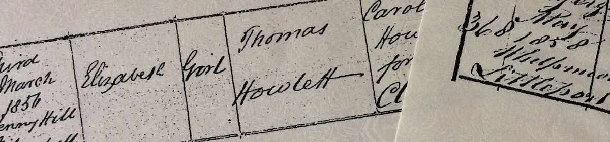 Surname Saturday: The Howlett family