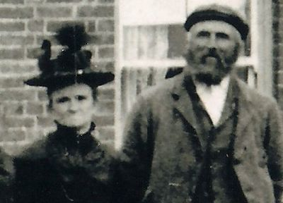 Elizabeth Howlett with her husband James Gilbert, Burnt Fen, Cambridgeshire.
