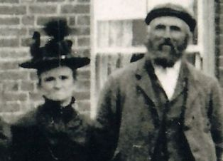 Elizabeth Howlett with her husband James Gilbert, Burnt Fen, Cambridgeshire.