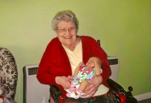 My grandmother with her very first Great Grandchild, c.2005. Photo: Andrew Martin.