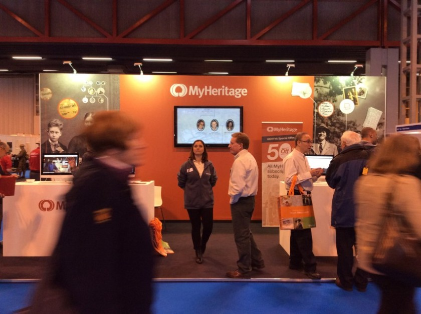 MyHeritage stand at WDYTYALive 2016