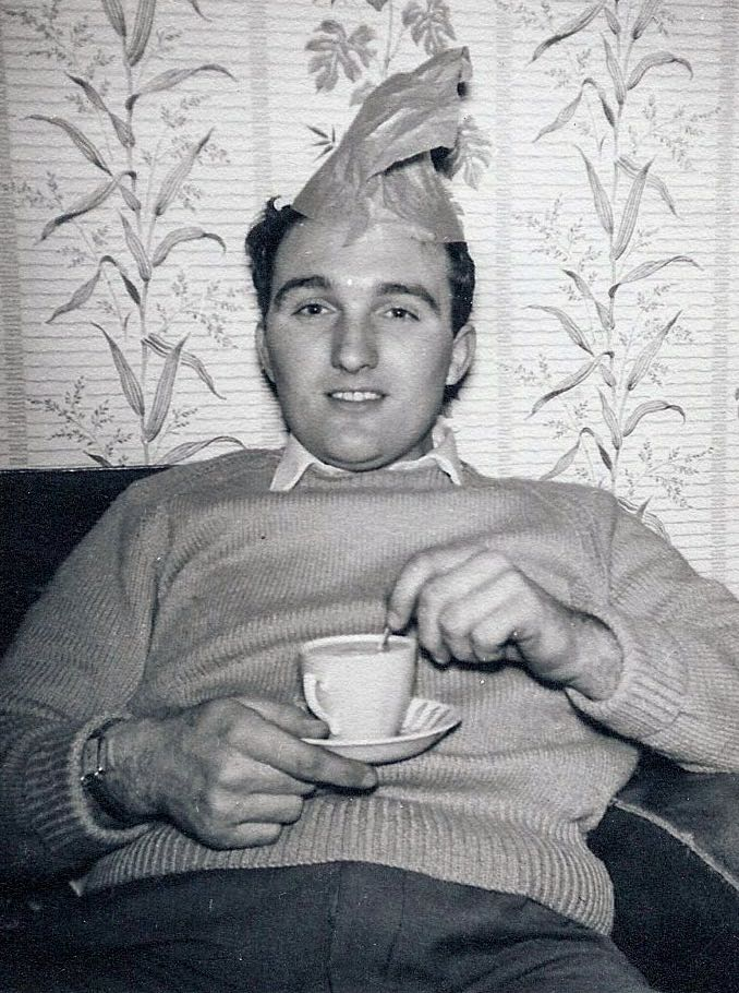 My uncle Barrie with tea and another stupid hat. Photo: Andrew Martin