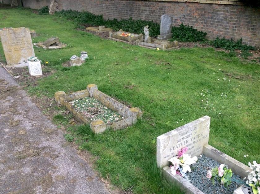Child gravestones at Little Downham