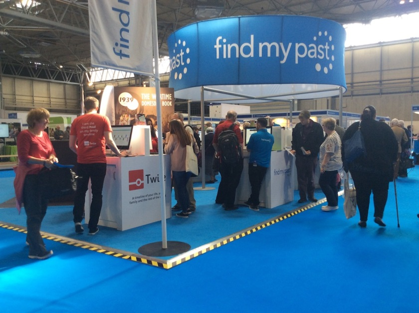 Twile and FindMyPast at their WDYTYALive stand in the middle of the show.