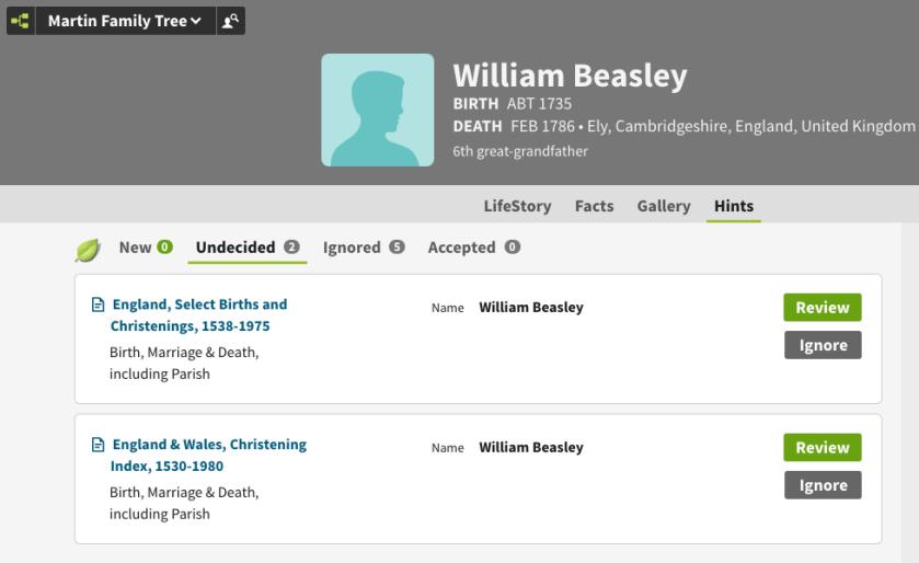 William Beasley baptism matches!