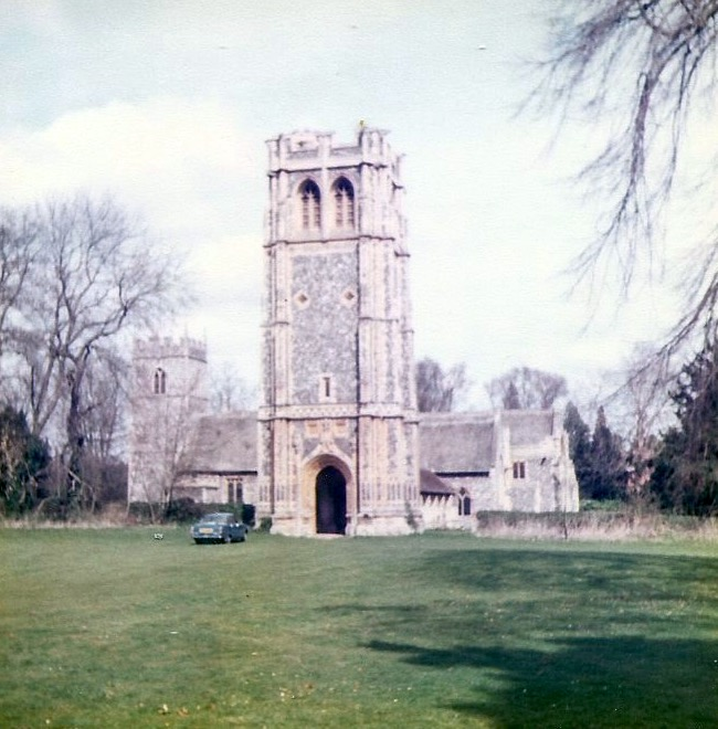 The Church of St. Andrew and St. Patrick, Elveden during the 1980s. Photo: Andrew Martin
