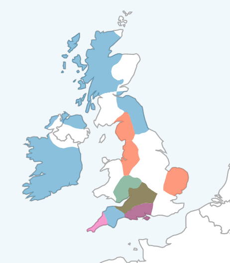 LivingDNA Cautious Region Map of UK