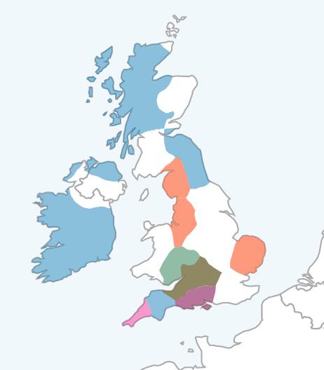 LivingDNA Cautious Region Map of UK