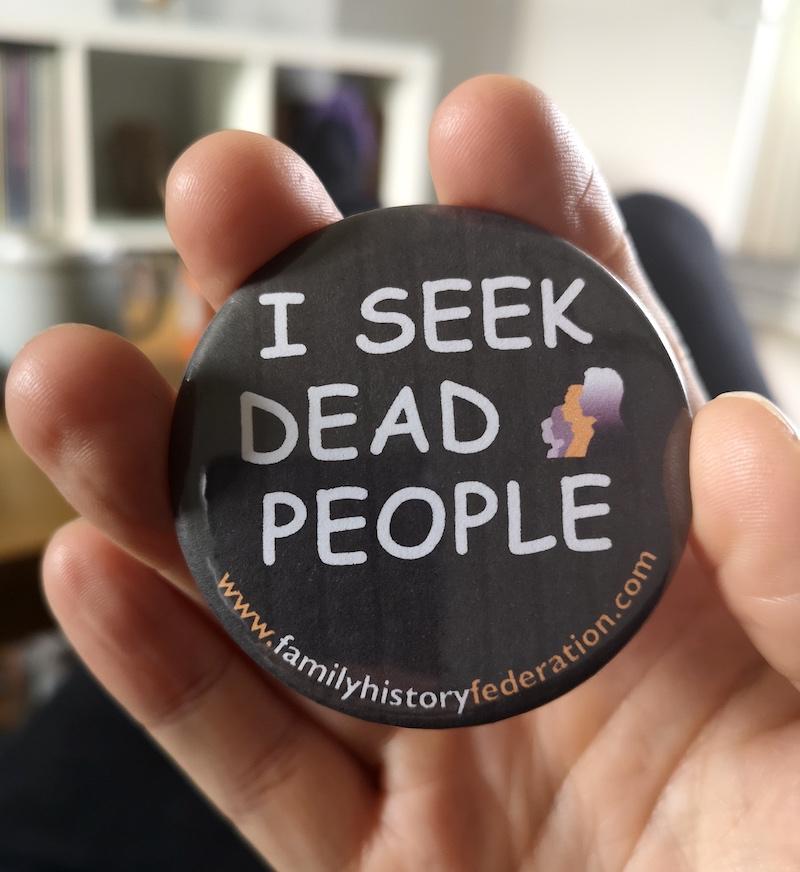 i seek dead people badge